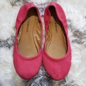Lucky brand Pink flats sz 7.5